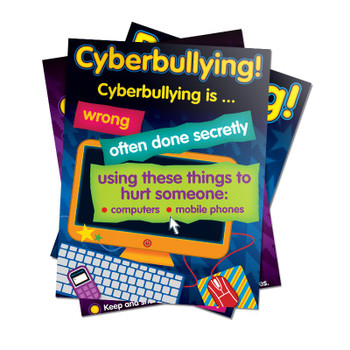 Bullying in a Cyber World Poster Set Grades 2-5