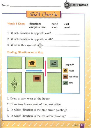 Maps Globes Graphs Level B Student Grade 2 sample page