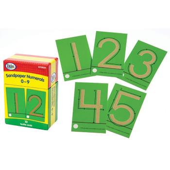 Sandpaper Numerals, 0-9, 10 Cards