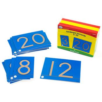 Sandpaper Numerals, 0-20, 21 Cards