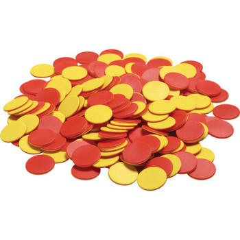 Two Color Counters - Red/Yellow Plastic