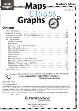 Maps Globes Graphs Level E Teacher Grade 5