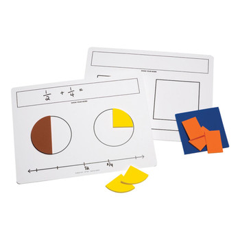 Write-On/Wipe-Off Fraction Mats
