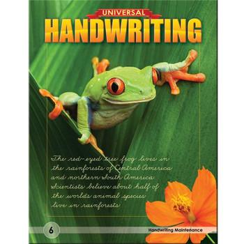 Universal Handwriting Grade 6 Handwriting Maintenance