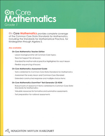 On Core Mathematics Bundle - Houghton Mifflin Harcourt Grade 1 info