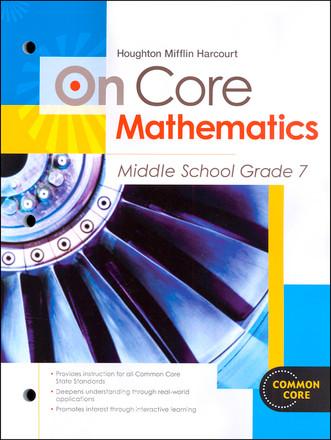 On Core Math Houghton Mifflin Harcourt Grade 7 Student Worktext