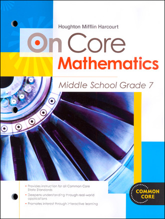 On Core Math - Houghton Mifflin Harcourt - Grade 7 Student Worktext