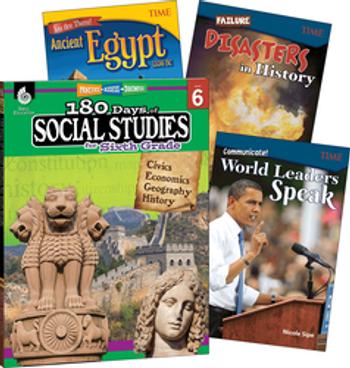 180 Days of Social Studies Grade 6 Bundle: 4 Book Set