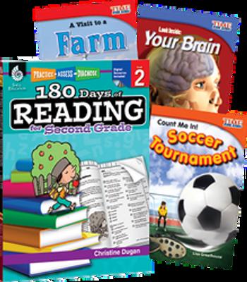 180 Days of Reading Grade 2 Bundle: 4 Book Set