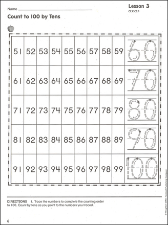 On Core Math k sample page
