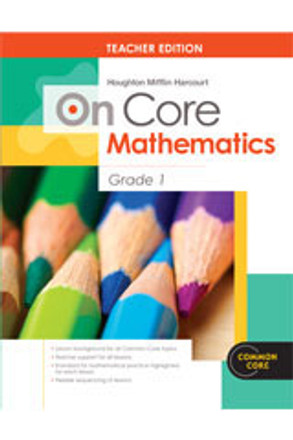 On Core Math - Houghton Mifflin Harcourt - Grade 1 Teacher