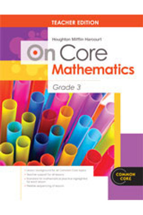 On Core Math - Houghton Mifflin Harcourt - Grade 3 Teacher Edition With Blackline Master