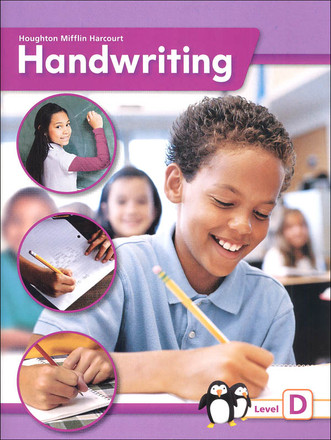 Houghton Mifflin Harcourt Handwriting Continuous Stroke Student Edition Grade 4 Level D