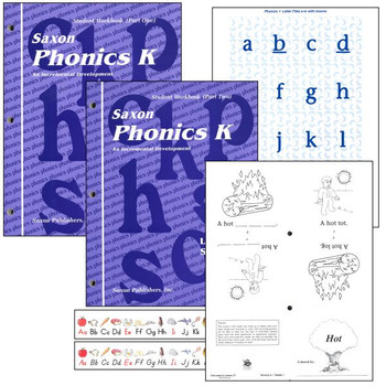 Saxon Phonics Grade K Student Workbook Set (9780939798711)