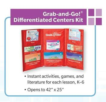 Go Math Grab & Go Grade k Differentiated Centers Kit CC
