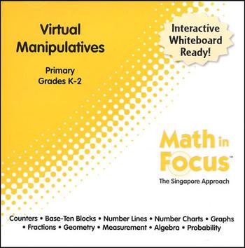 Math in Focus Primary Virtual Manipulatives CD-ROM Grades K-2