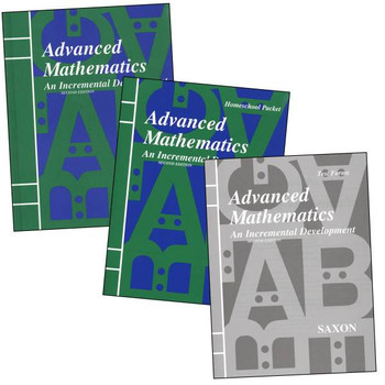 Saxon Math Advance Math 2nd Edition Homeschool Kit