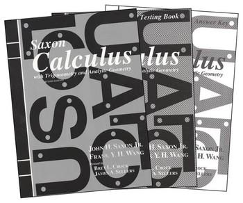 Saxon Math Calculus 2nd Edition Homeschool Kit