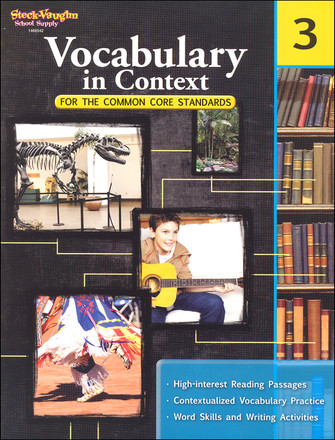 Vocabulary in Context For Common Core Standards Grade 3