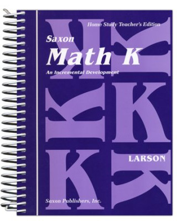 Saxon Math K Homeschool Teacher's Manual 1st Edition