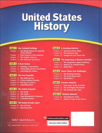 Holt McDougal United States History Grades 6-8 Student Textbook
