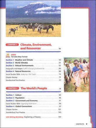 Holt McDougal World Geography Grades 6-8 Teacher & Student Package