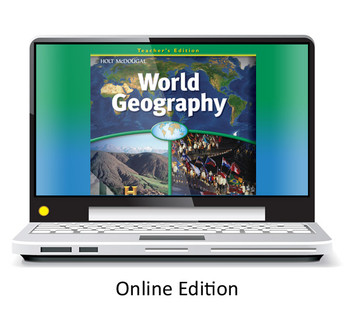Holt McDougal World Geography Grades 6-8 One Year Online Access Renewal Code