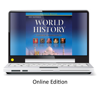Holt McDougal World History: Patterns of Interaction Grades 9-12 One Year Online Access Renewal Code