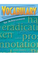 Vocabulary For Achievement Grade 9 Teachers Edition Third Course