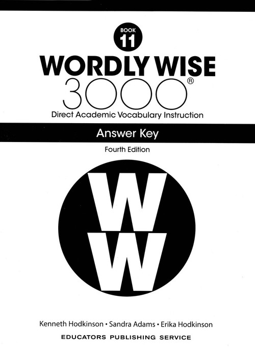 Wordly Wise 3000 4th Edition Book 11 Answer Key