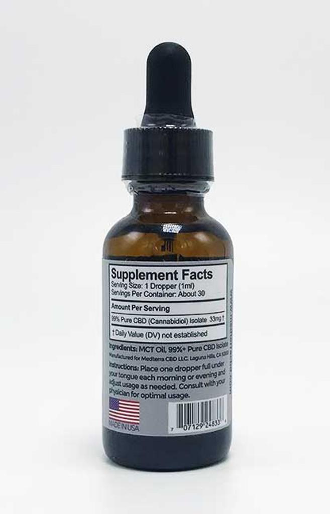Medterra - CBD Tinctures (Isolate) (500 mg, 1000 mg)