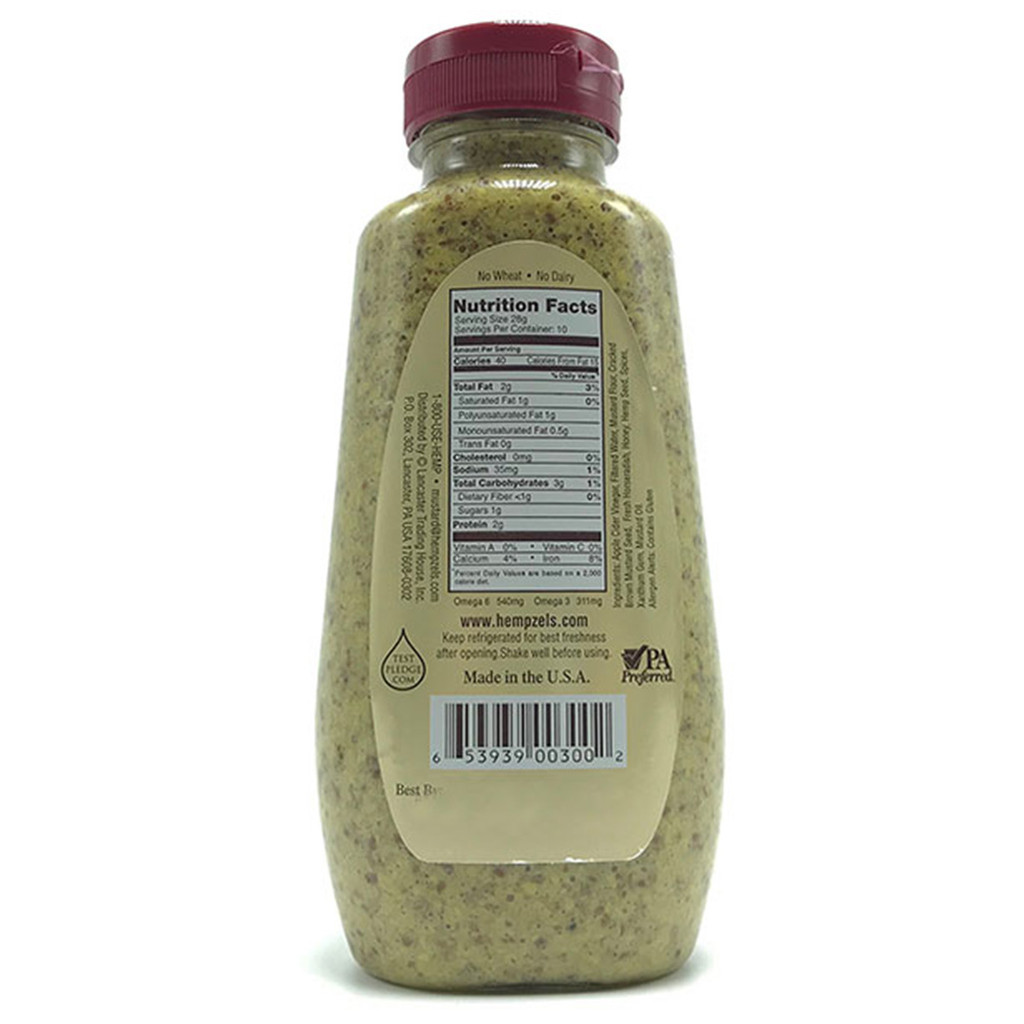 Hempzels Horseradish Hemp & Honey Mustard