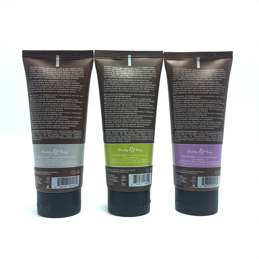 Earthly Body Hemp Seed Hand & Body Lotion (five scents)