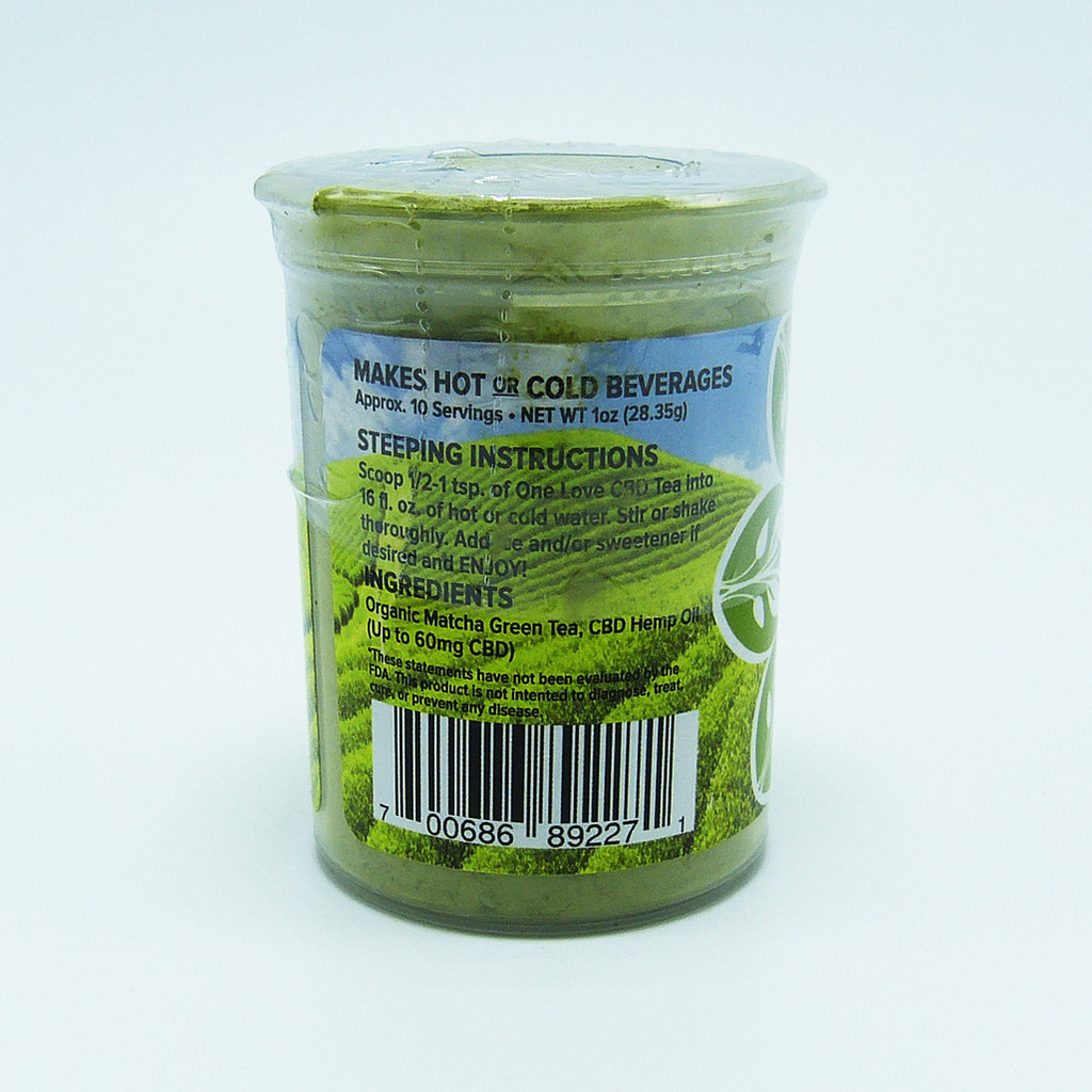 One Love Tea - Matcha Green Tea (60 mg CBD)