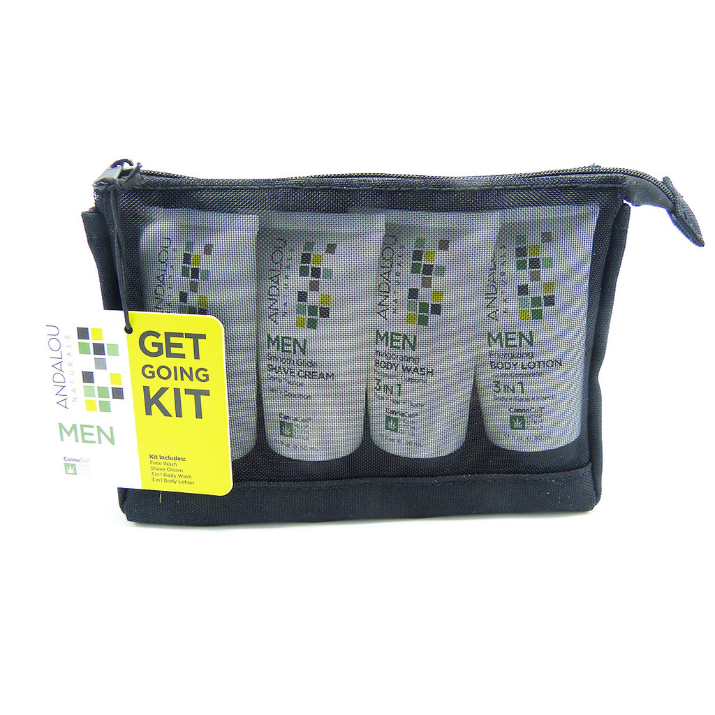 Andalou Naturals CannaCell Get Going Kit for Men