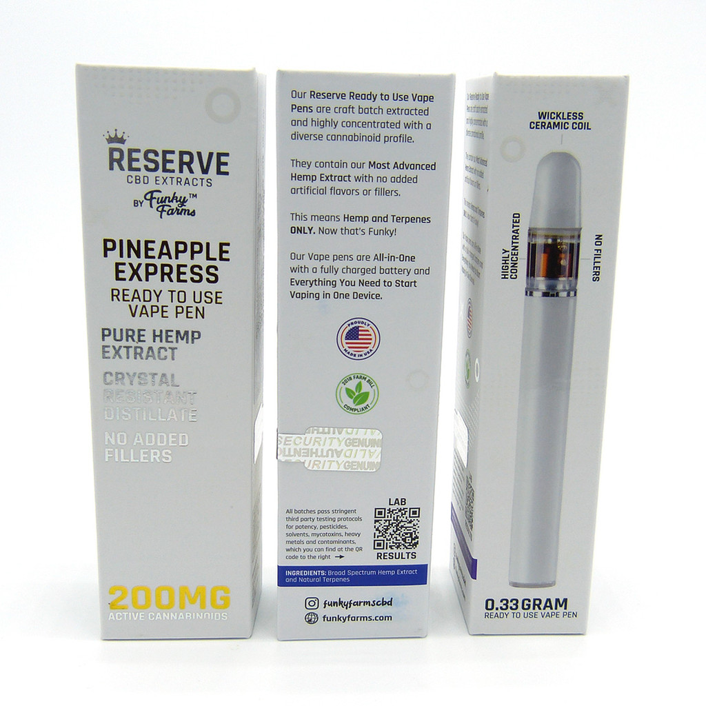 Funky Farms Reserve Line - Broad Spectrum Disposable Vape Pens (THC-free)