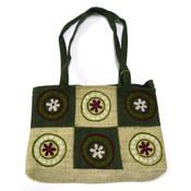 Earth Divas Hemp Handbag with Flower Pattern (3 colors available)