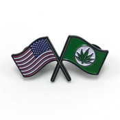 USA Hemp Flags Enamel Pin