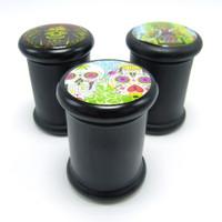 Black Glass Storage Jar