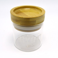Glass Storage Jar with Bamboo Top by RYOT