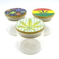 Cannabis-Themed Glass Jar
