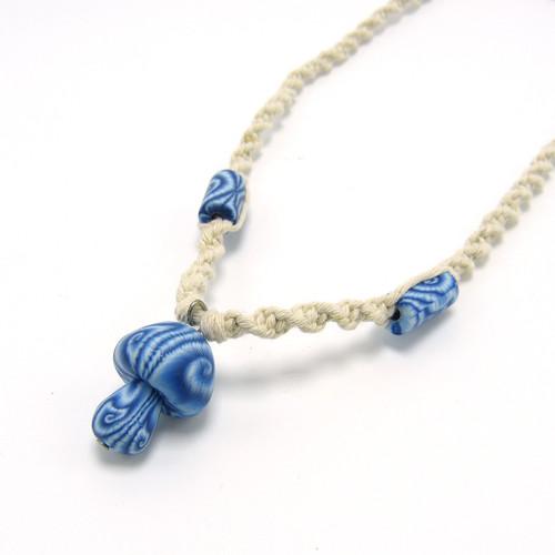 Hemp Mushroom Necklace