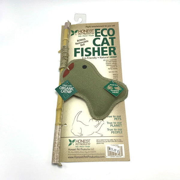 Honest Pet Products Hemp Cat Toy - Eco Cat Fisher