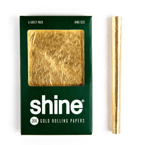 Shine 24k Gold Rolling Papers - King Size 6-Sheet Pack
