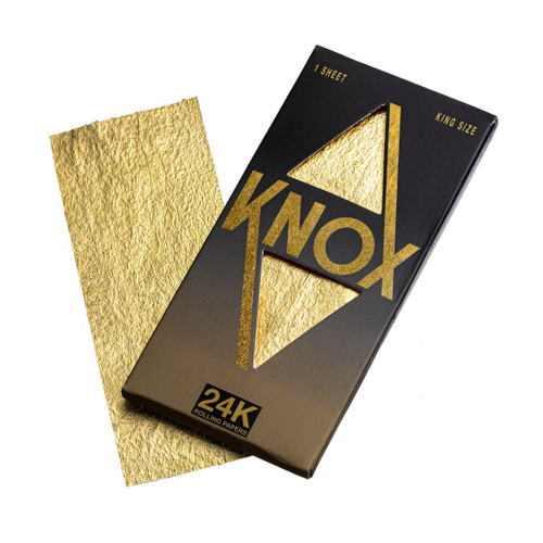 Knox 24K Gold Rolling Paper King Size 1 Sheet Pack