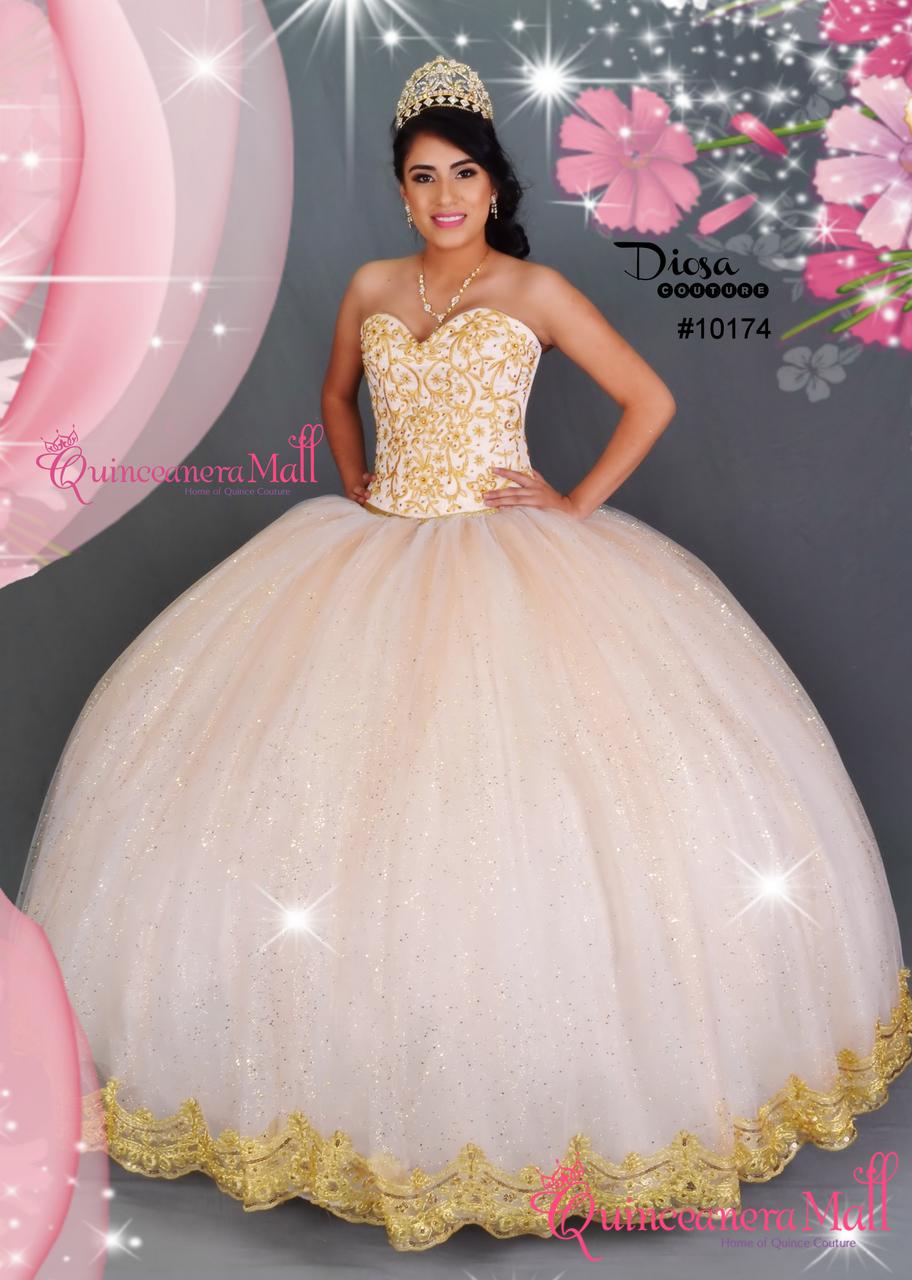70307cf9ac8 Tulle Skirt Princess Quinceanera Dress  10174QM - Quinceanera Mall