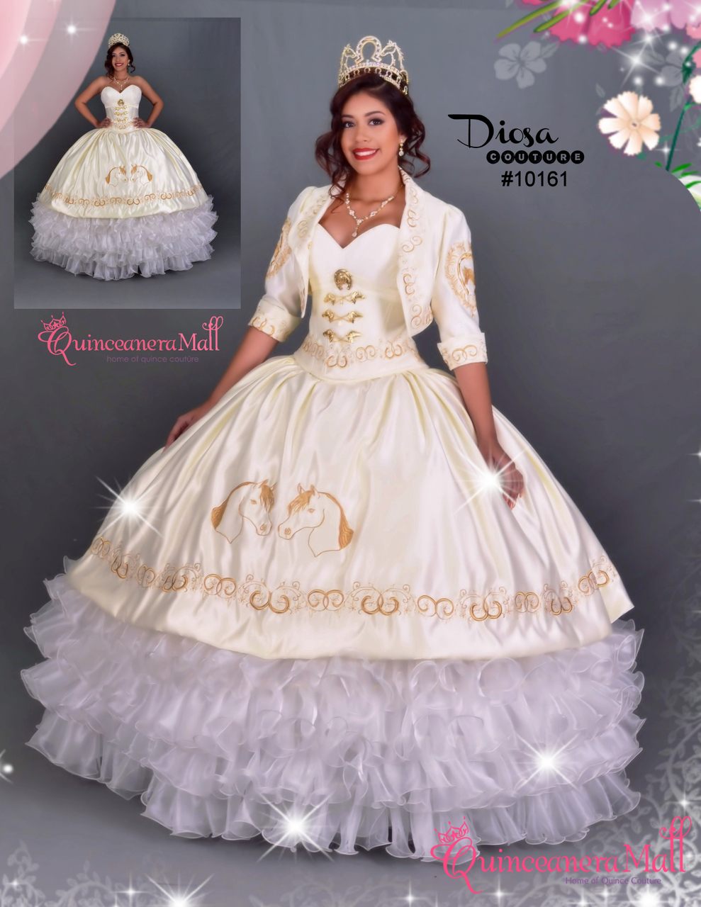 7ec82999dcb Charra Quinceanera Dress  10161GD