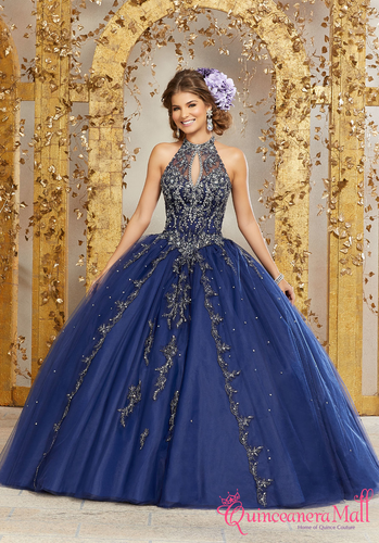 175caab83 Rhinestone and Crystal Beaded Embroidery on a Princess Tulle Ballgown  89236