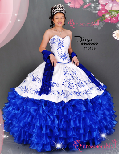 f4e2956626e Charra Quinceanera Dress  10169QM - Quinceanera Mall
