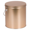8s Gold Tall Round Tin Container